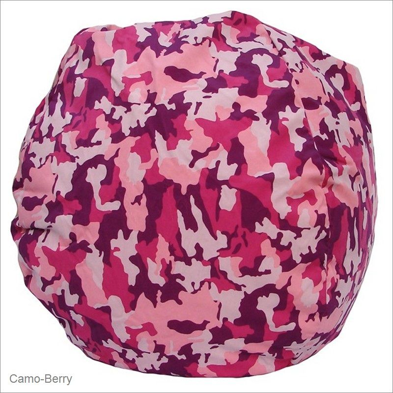 Bean Bag Boys Pink Camo Print Fabric Bean Bag