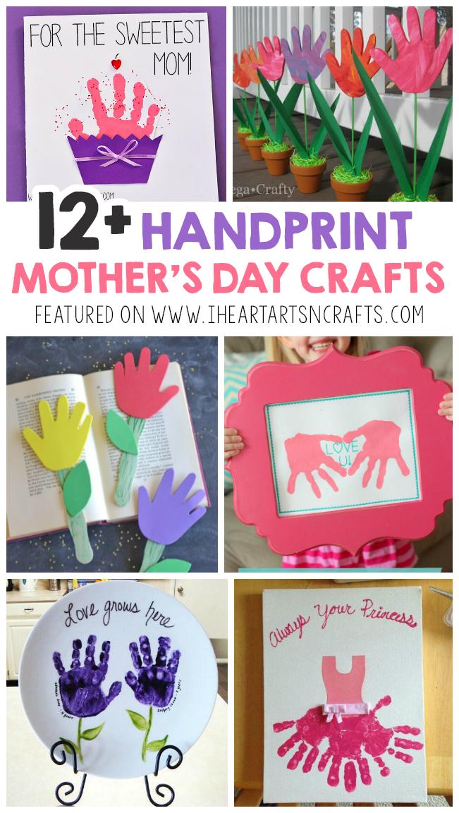 12 Adorable Handprint Mother S Day Crafts For Kids Art Projects