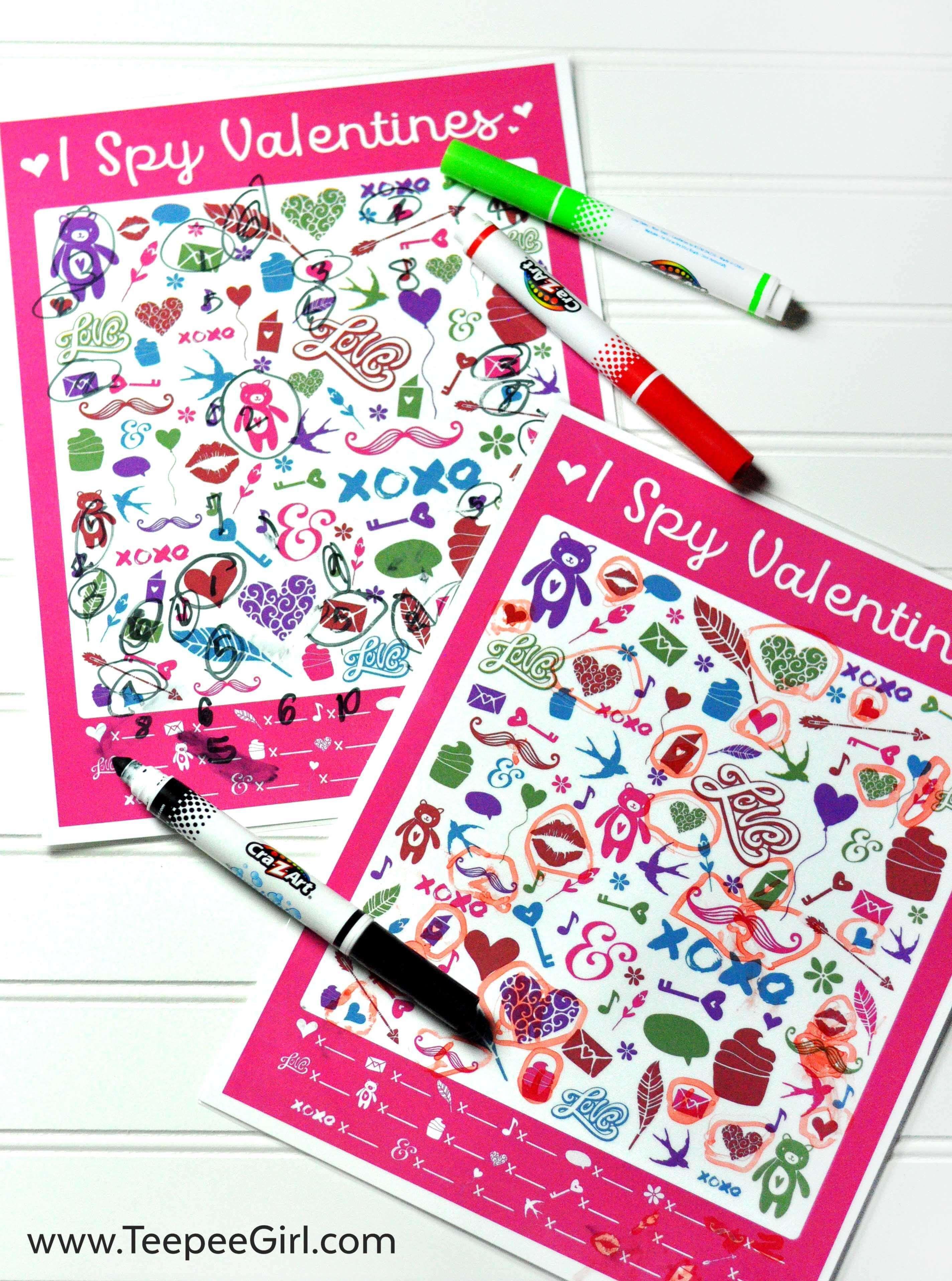 Free I Spy Valentine S Printable Game