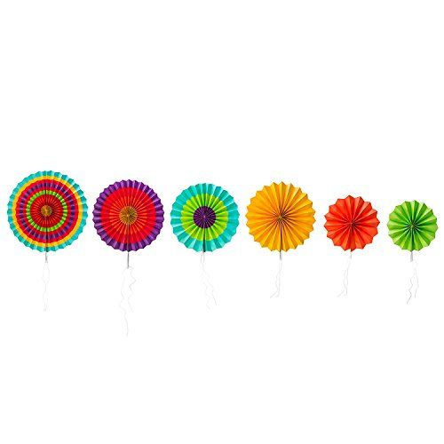 Fiesta Colorful Paper Fans Round Wheel Disc Southwestern ...…