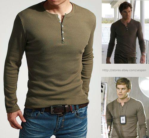 Showtime's Dexter Kill Shirt Mens Henley Tee Long Sleeve T-Shirt ...