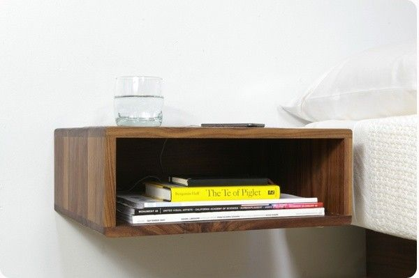 The Traditional Bedside Table Is A E Hog That Offers Little Storage In Return For Small Es Consider Better Companion Wall Mounted