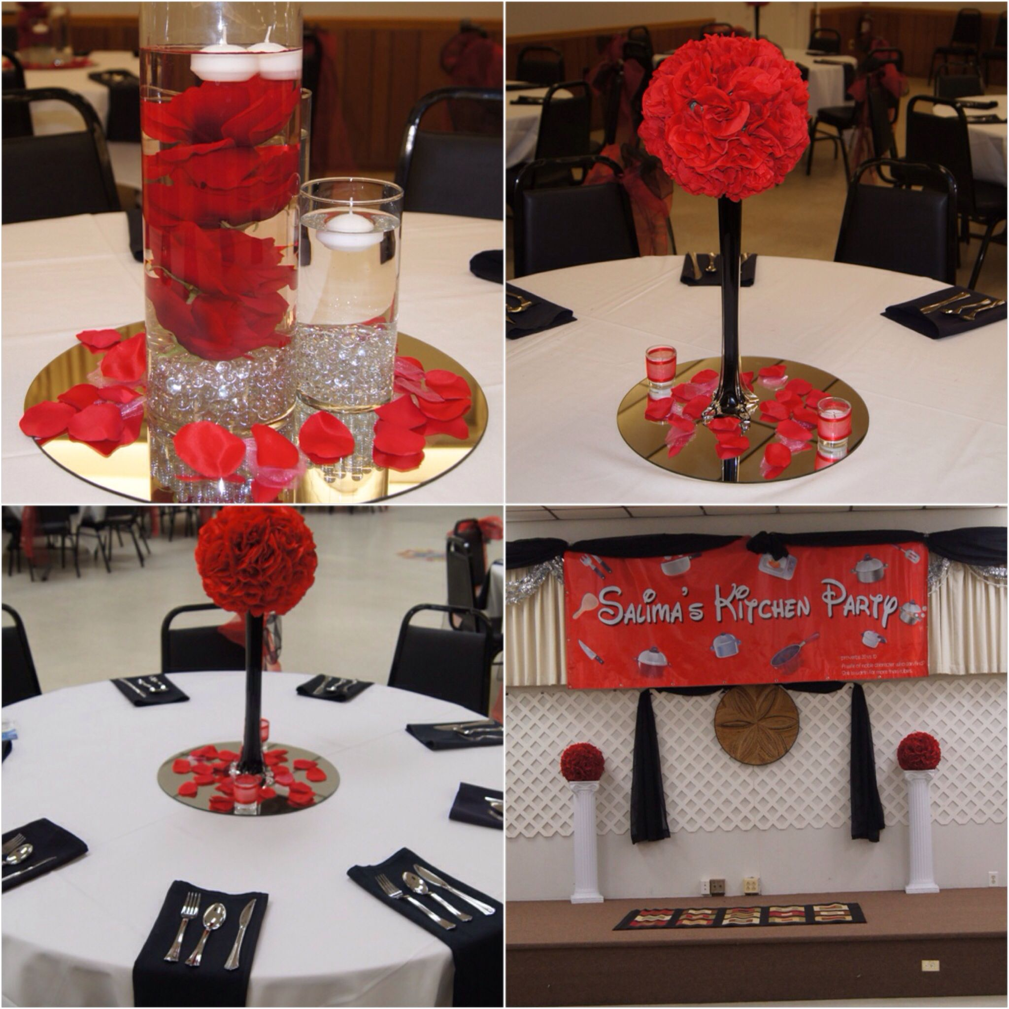 Pin By Chanda Pickett On Red And Black Red Bridal Showers Prom
