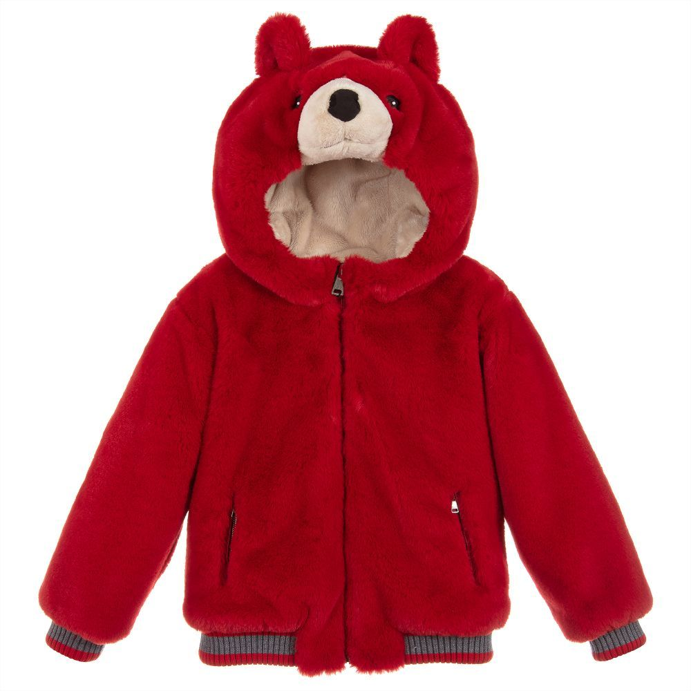 021bf3363 Dolce   Gabbana Unisex Red Fur Teddy Jacket. Shop from an exclusive ...