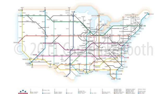 What If The US Highway System Consisted Entirely Of Subways - Western state highways us map