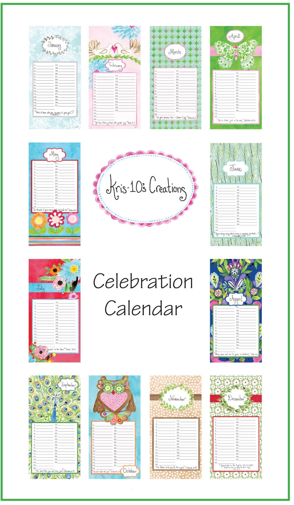 picture relating to Free Printable Perpetual Birthday Calendar Template titled Calendar Template Gallery perpetual birthday calendar