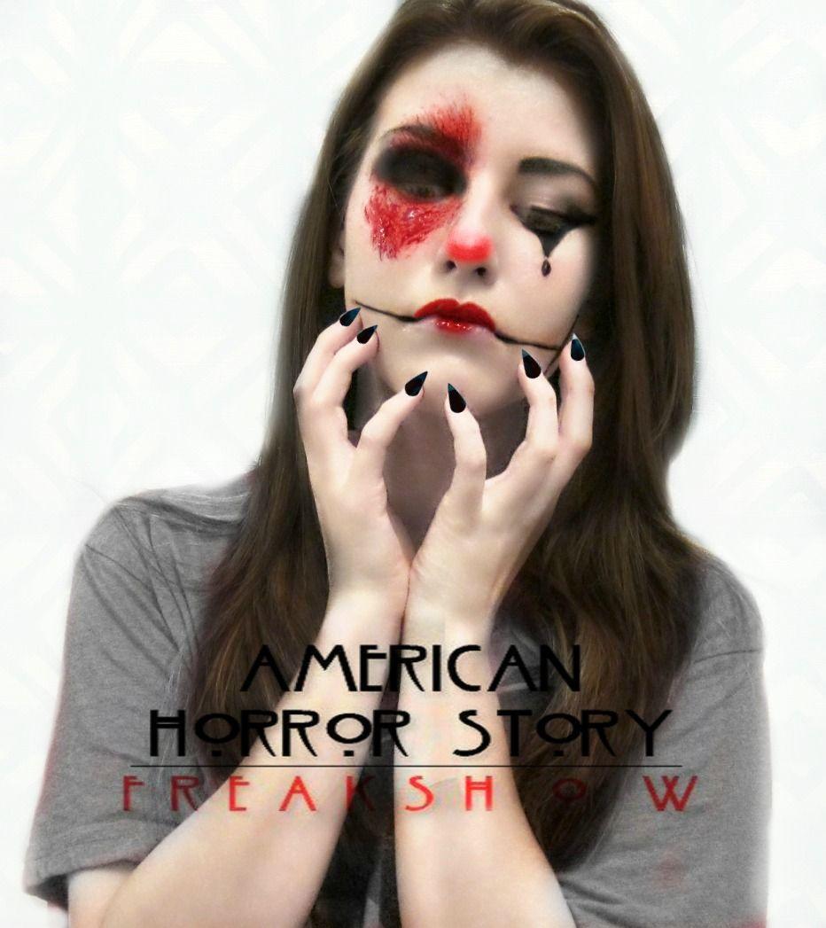 American Horror Story   Freak Show   Clown   Clown Makeup   5 Min ...