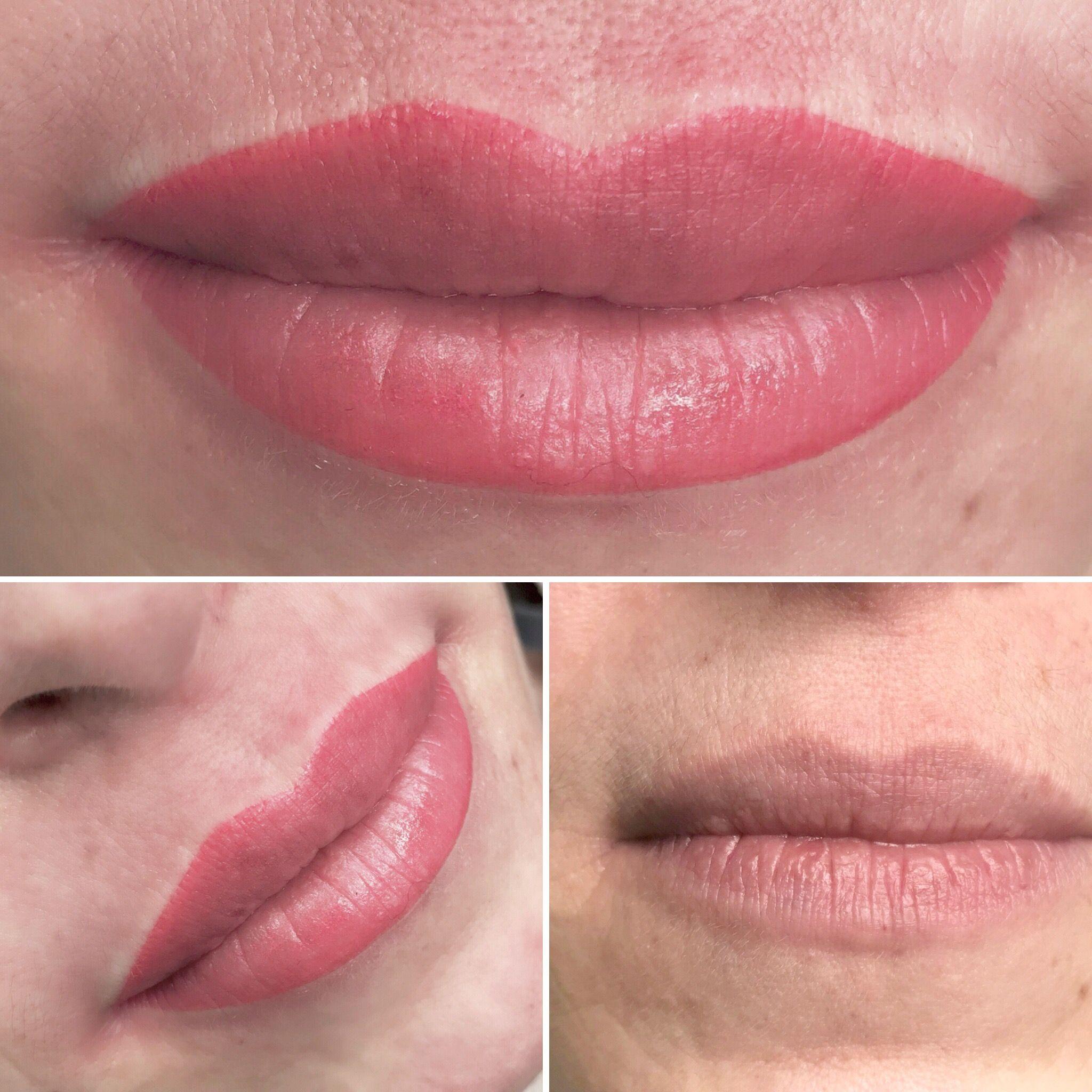 PMU Lips Lip permanent makeup, Permanent lipstick