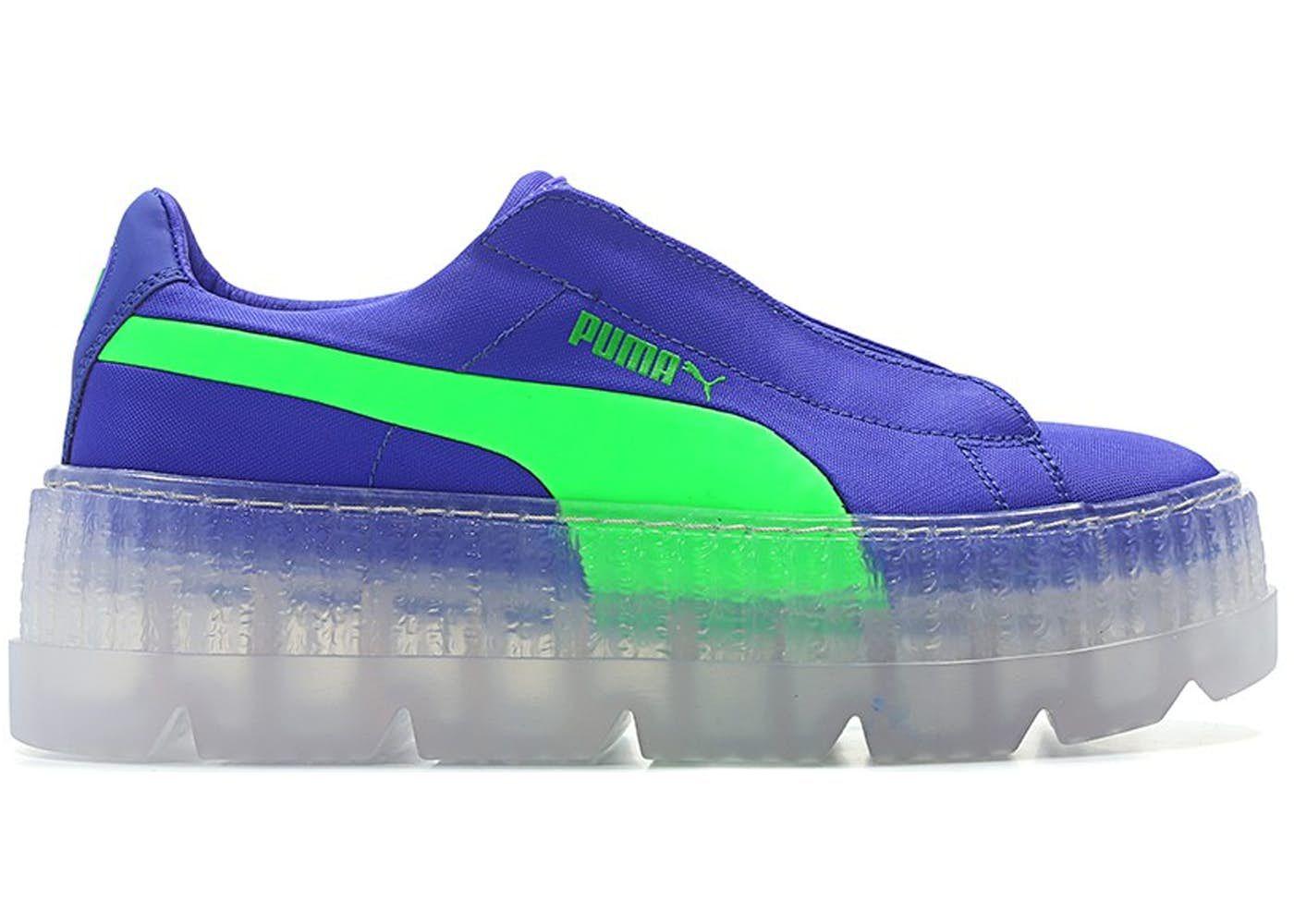 puma creepers bleu et vert