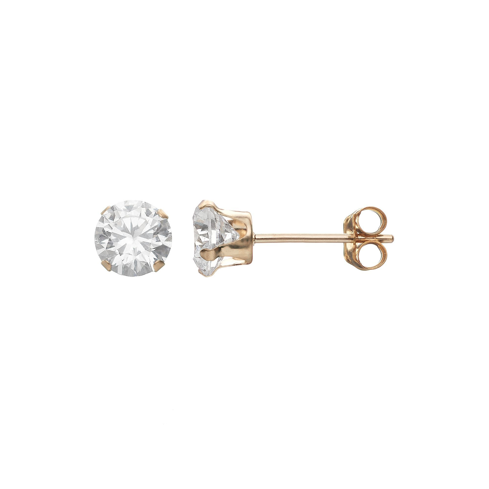 Taylor Grace Cubic Zirconia 10k Gold Stud Earrings Stud Earrings Gold Studs Earrings