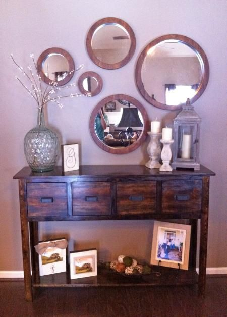Do It Yourself Home Decorating Ideas: Entryway. Adjusted Balin Console Table