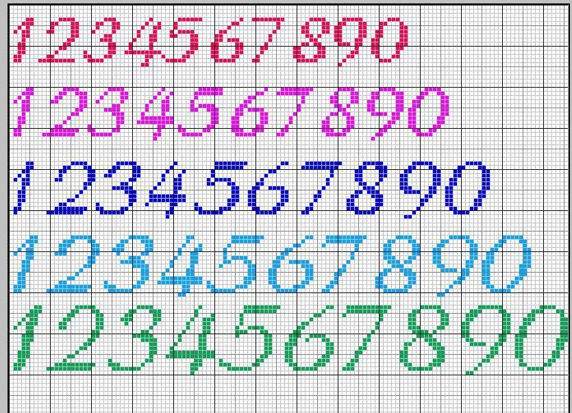 Numeri Punto Croce Schemi Cerca Con Google Ricamo Pinterest