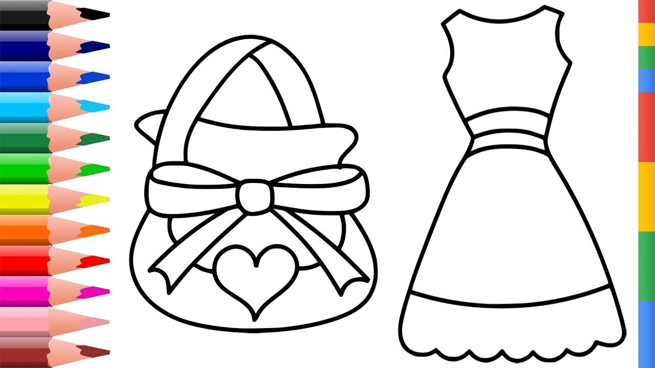 Coloring Pages Collection For Kids Drawing Accessories For Girls