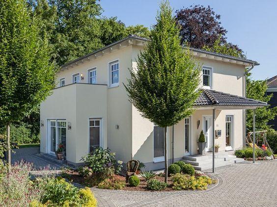 Hausansicht Kundenhaus Familie Conrad Architektenhaus mediterran mit