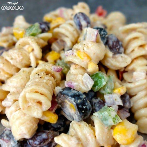 Southwest Pasta Salad @ Blissful Roots