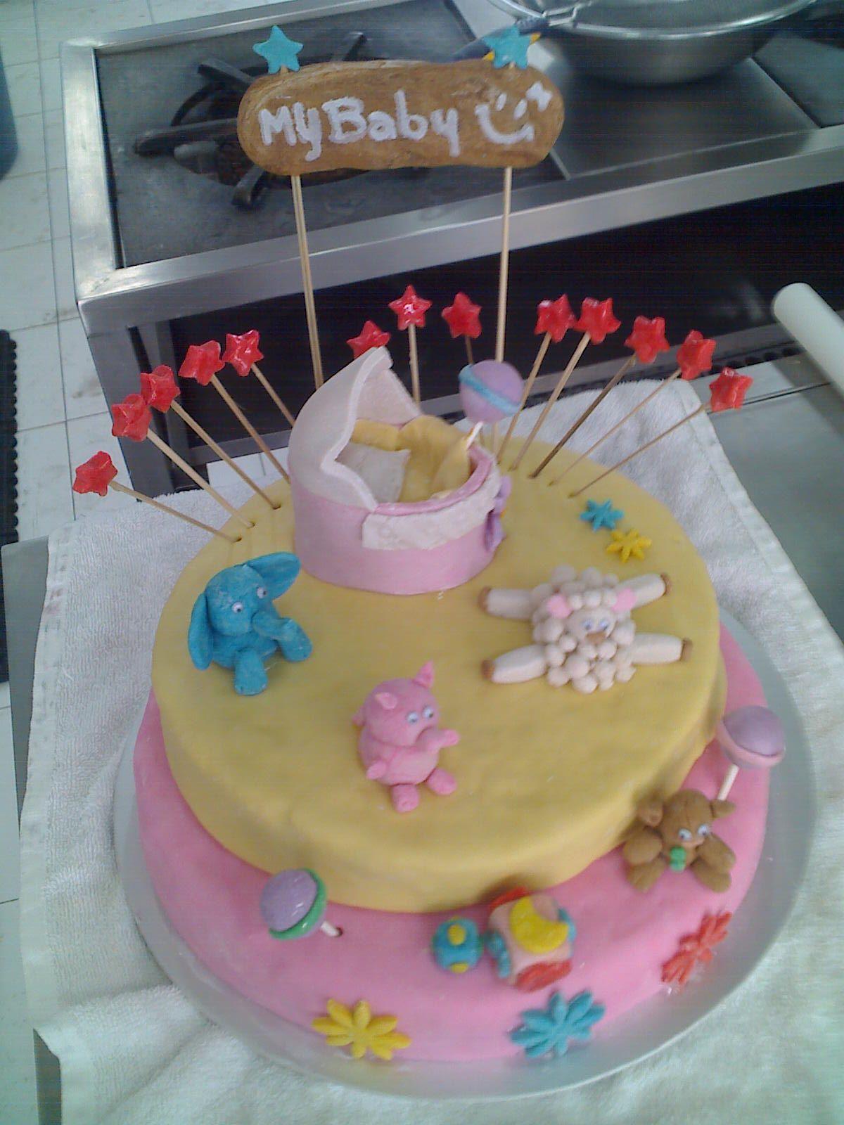 Pastel Baby Shower Pasteles De Fondant Para Y Toda Pelauts
