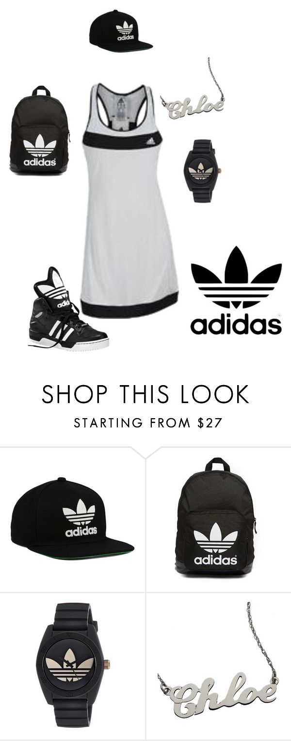 """""""Easy Breezy Adidas Chick"""" by lushykushylady on Polyvore featuring adidas Originals, adidas and sportystyle"""