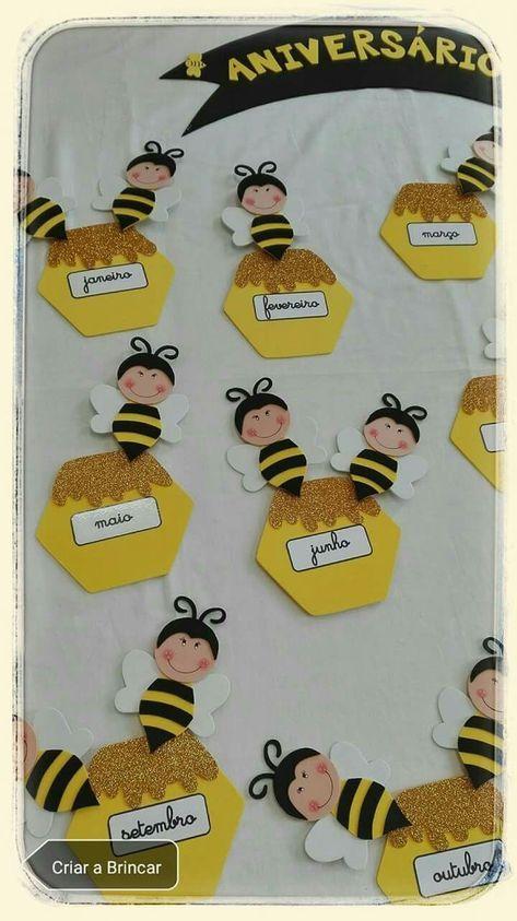This Pin was discovered by naz | Bienen | Geburtstagskalender kita, Bienen basteln und Klassenzimmer