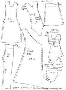 graphic regarding Printable Barbie Clothes Patterns known as Barbie outfits habits cost-free printable Sewing Barbie Doll