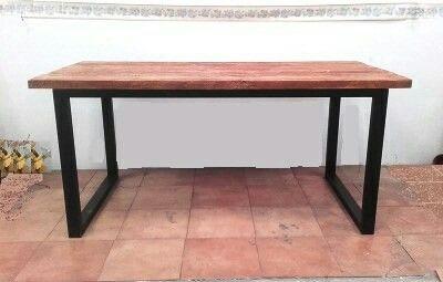 Mesas de comedor de forja y madera. 170x80x75 cm. Precio 200€ www ...