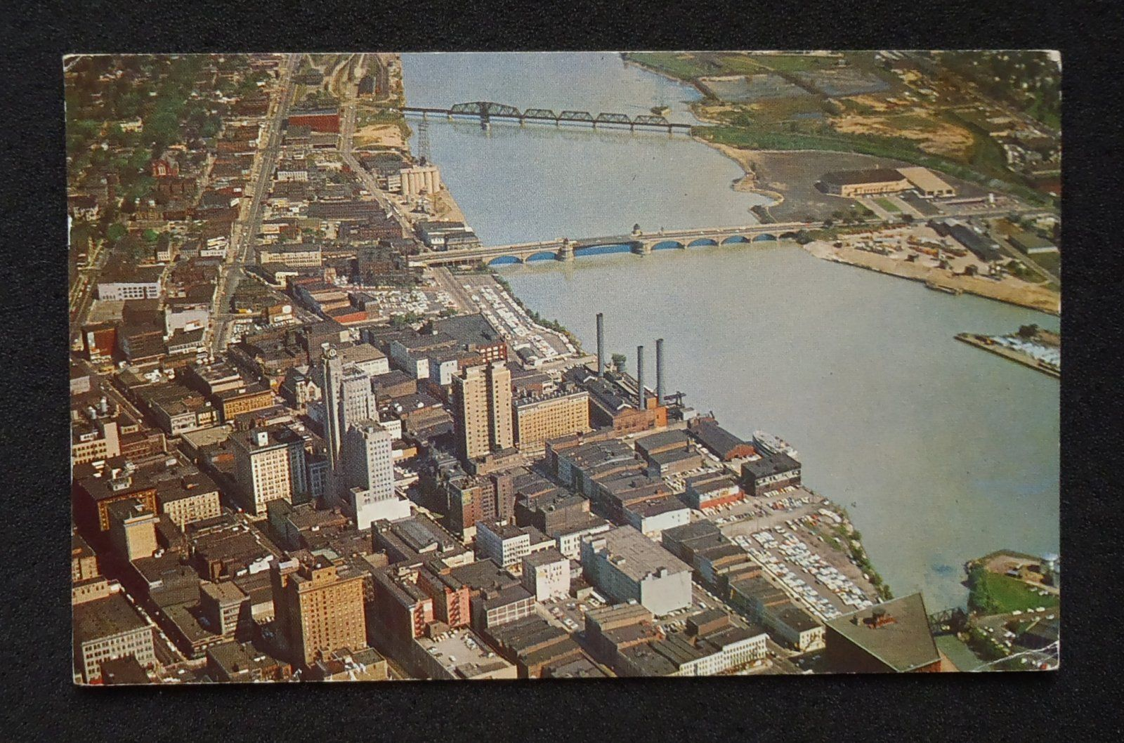 Ohio lucas county maumee - 1960 Aerial View Of Maumee River In Downtown Toledo Ohio
