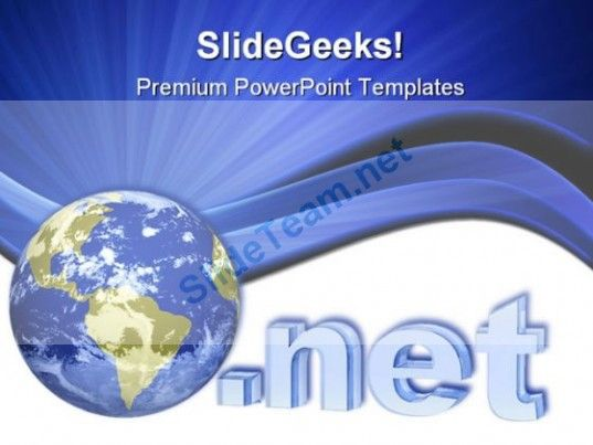 Internet Globe Powerpoint Template 1110 Powerpoint Templates
