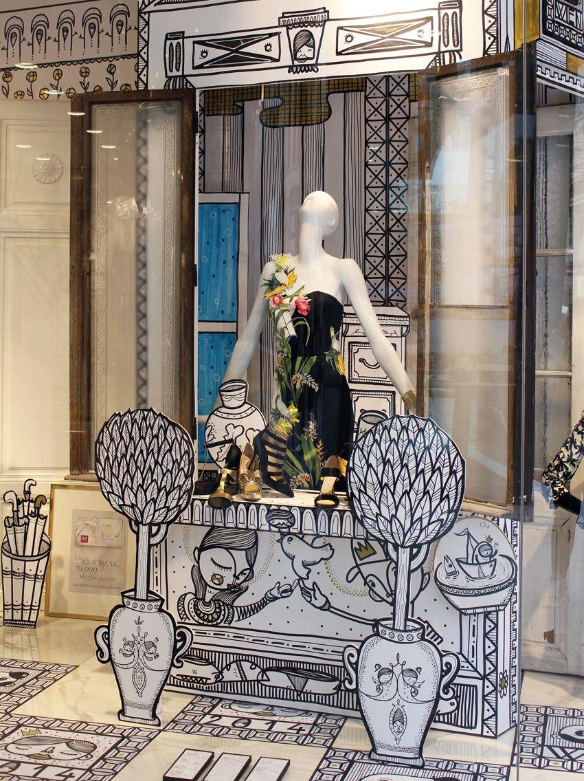 steffl kunstfenster otto girsch fashion displays pinterest schaufenster schaufensterdeko. Black Bedroom Furniture Sets. Home Design Ideas