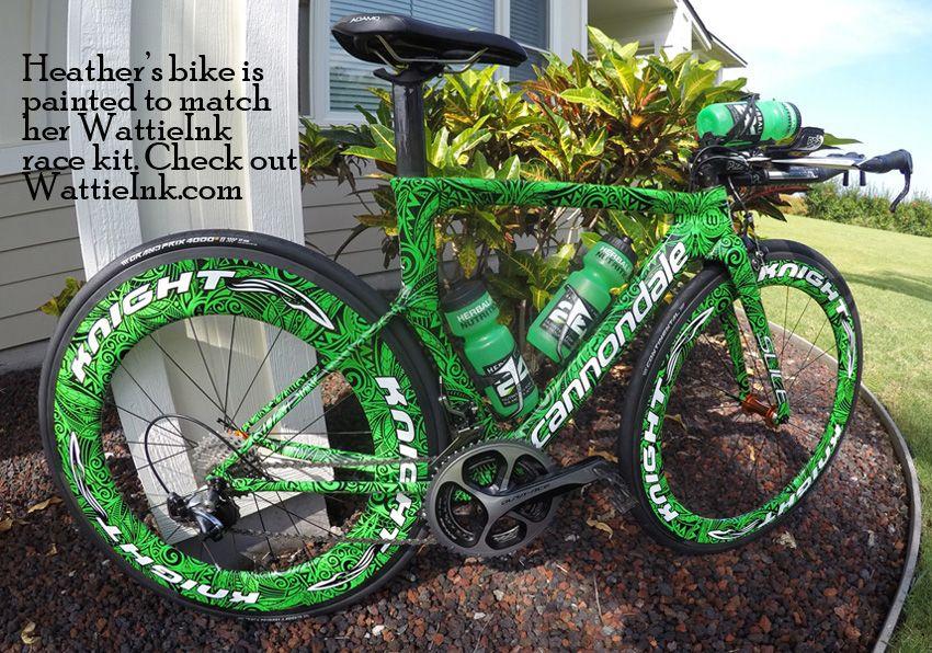 5dd7cb953ab Heather Jackson's Cannondale Slice. | Custom bicycle paint designs ...