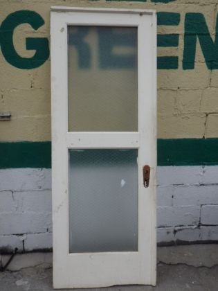 Pebbled Chicken Wire Glass Doors | Build It Green! NYC