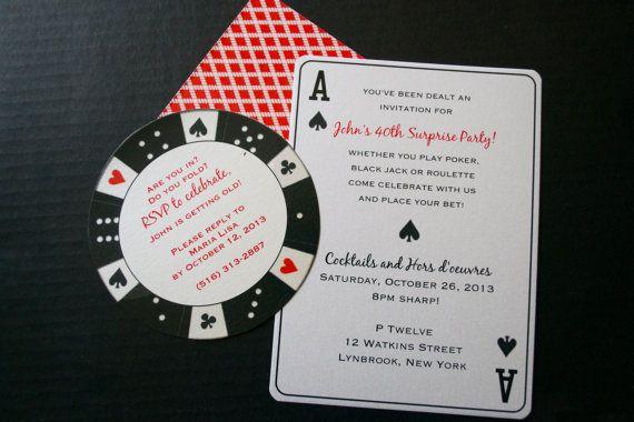 Invitaciones De Tarjeta De Poker Casino Temático