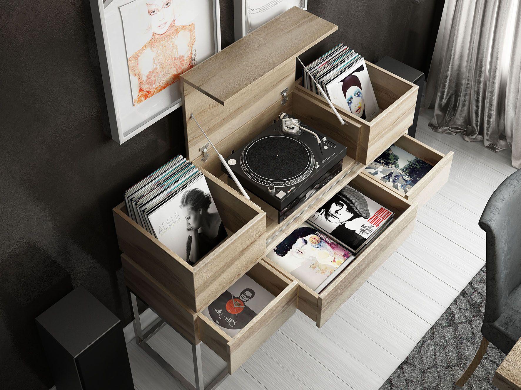 Mueble Para Discos De Vinilo Disfruta De Tu Pasi N Por La M Sica  # Muebles Tocadiscos