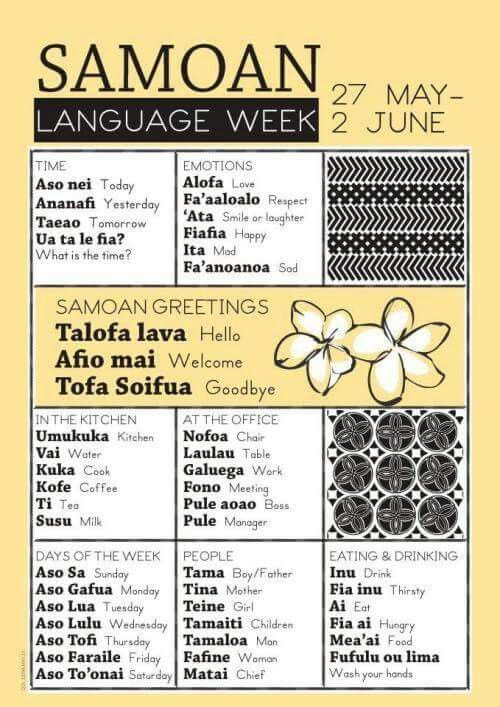 a study on the samoan language Discover our wide range of resources to help you learn your chosen language we can help you study more than 70 different languages including  samoan studies.