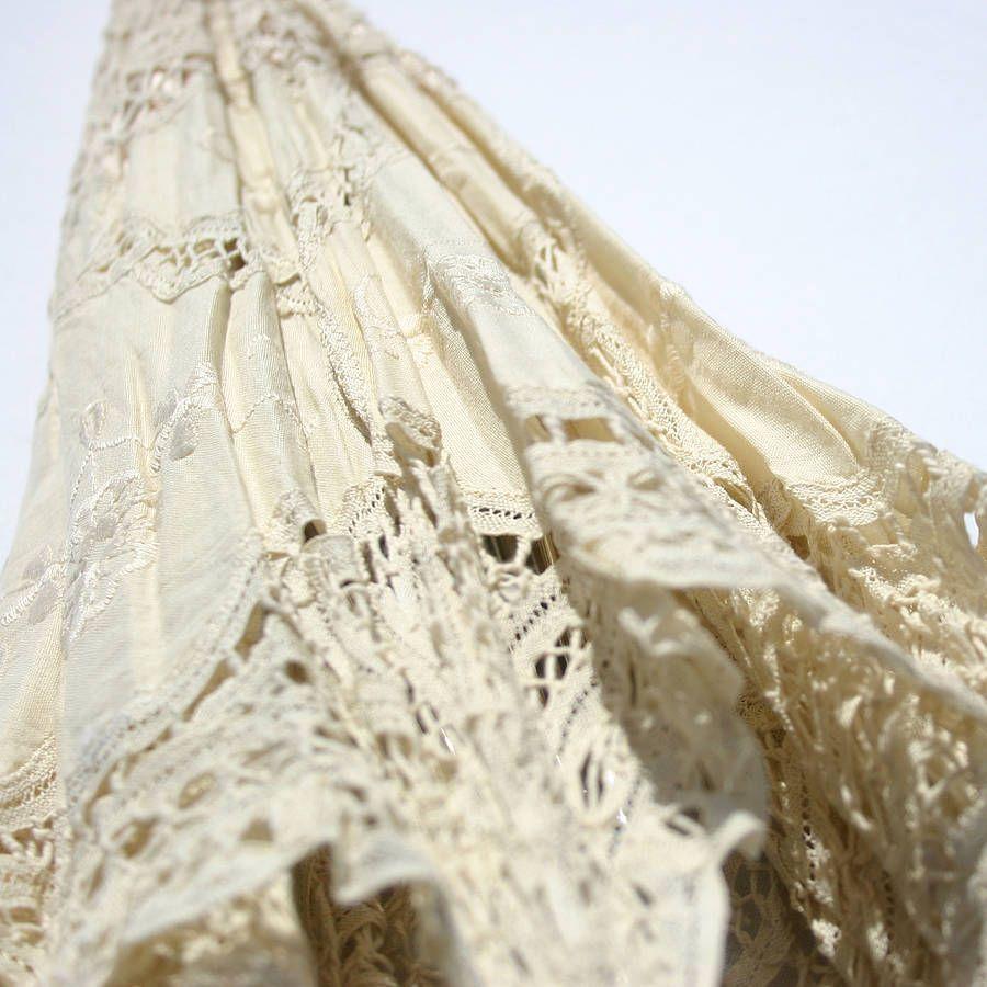 Vintage Style Ivory Wedding Parasol