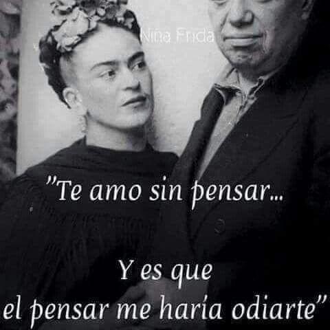 Frida Kahlo Love Quotes Beauteous Imagen Vía We Heart It Fridakahlo Pareja Pensar Intenso Love