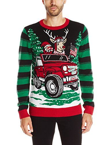 Ugly Christmas Sweater Men's This Is How We Roll Light-Up, Black, Large | Ugly  Christmas Sweater With Lights ** Continue to the product at the image link. - Ugly Christmas Sweater Men's This Is How We Roll Light-Up, Black