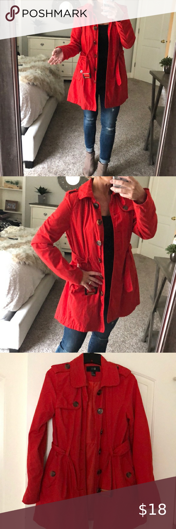 Bright red long jacket in 2020 Long jackets, Forever 21