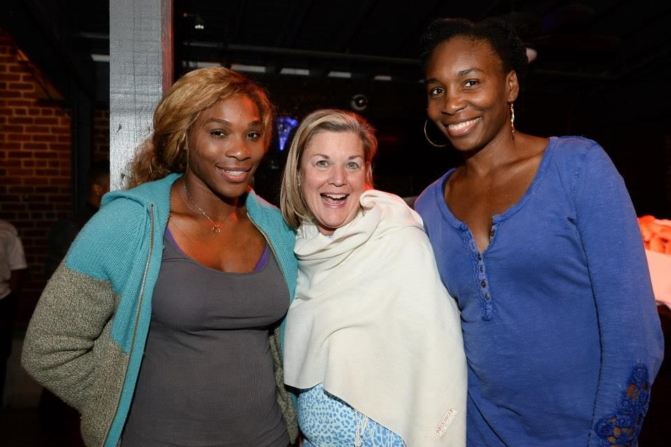 Via Family Circle Cup  · 3/31/14   Tennis legends Venus and Serena Williams pose for a photo with Tournament Manager Eleanor Adams © 2014 Chris Smith. 3/31/14 <3