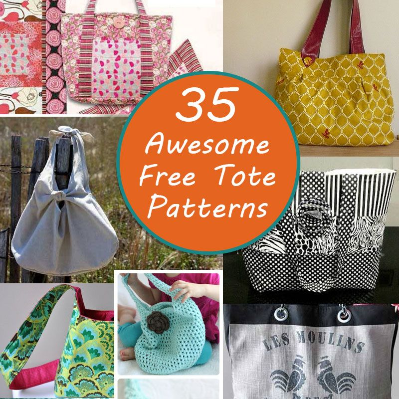 The Best Free Tote Patterns - | Bolsos, Modelo y Sobres