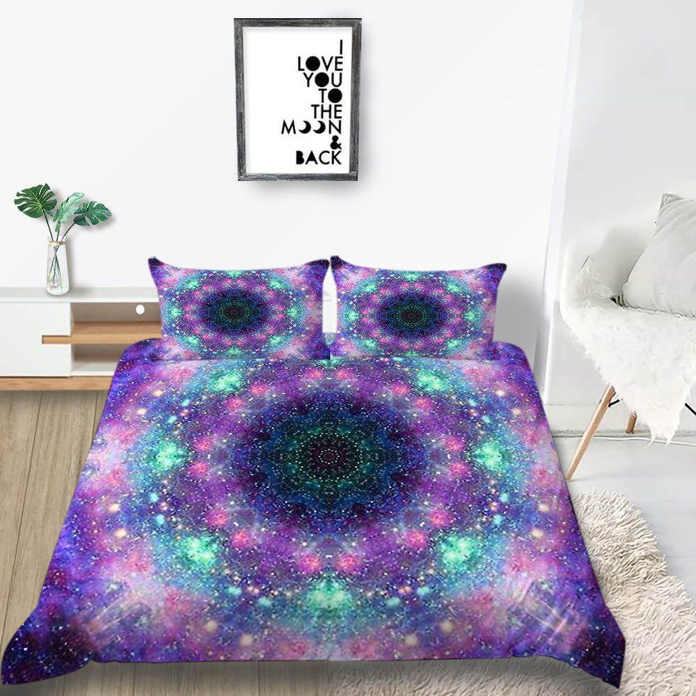 Galaxy Bedding Set Queen Fantasy Fashionable Duvet Cover