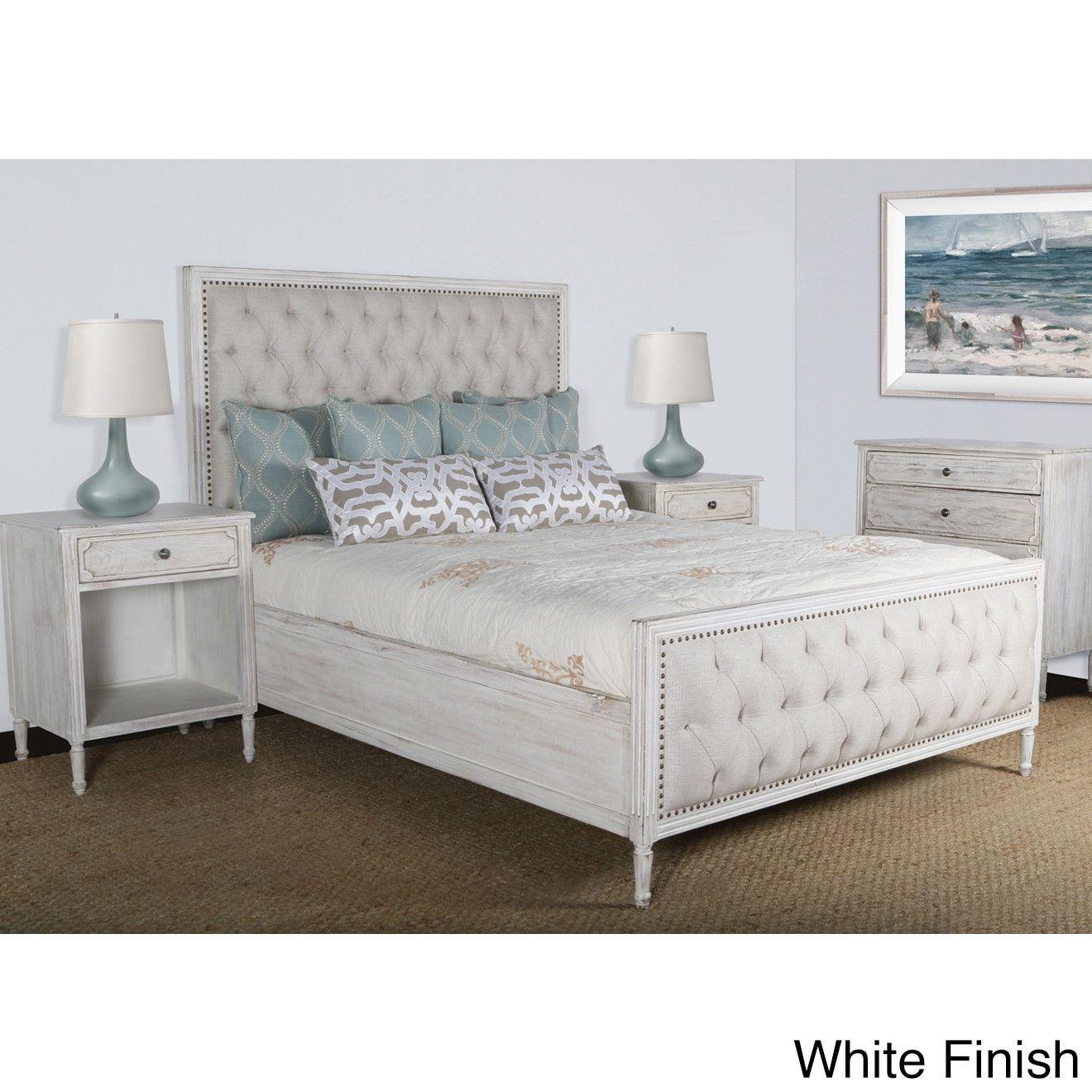 Lennox Design Hannah Tufted Bedroom Set King White