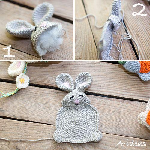 Zajaczek Wielkanocny Na Szydelku Wzor Kreatywne Szydelko Szydelkowanie A Ideas Crochet Easter Crochet Crochet Hats