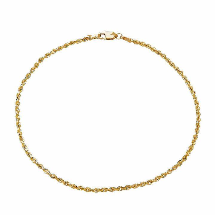 Fine Jewelry Uni 9 Inch 10k Gold Chain Bracelet