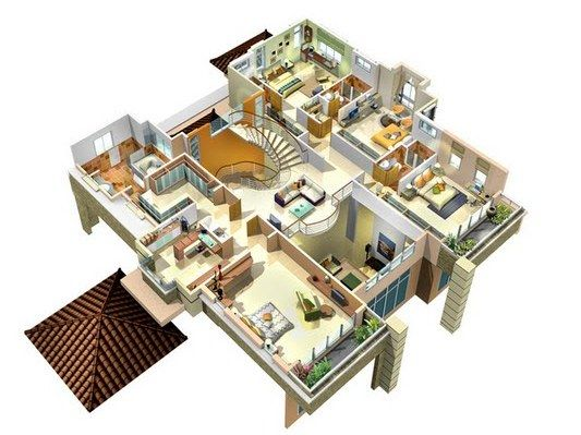 Three Bedroom House Design Pictures Fair 3 Bedroom Bungalow Plan House In Kenya  Architecture  Pinterest Design Ideas