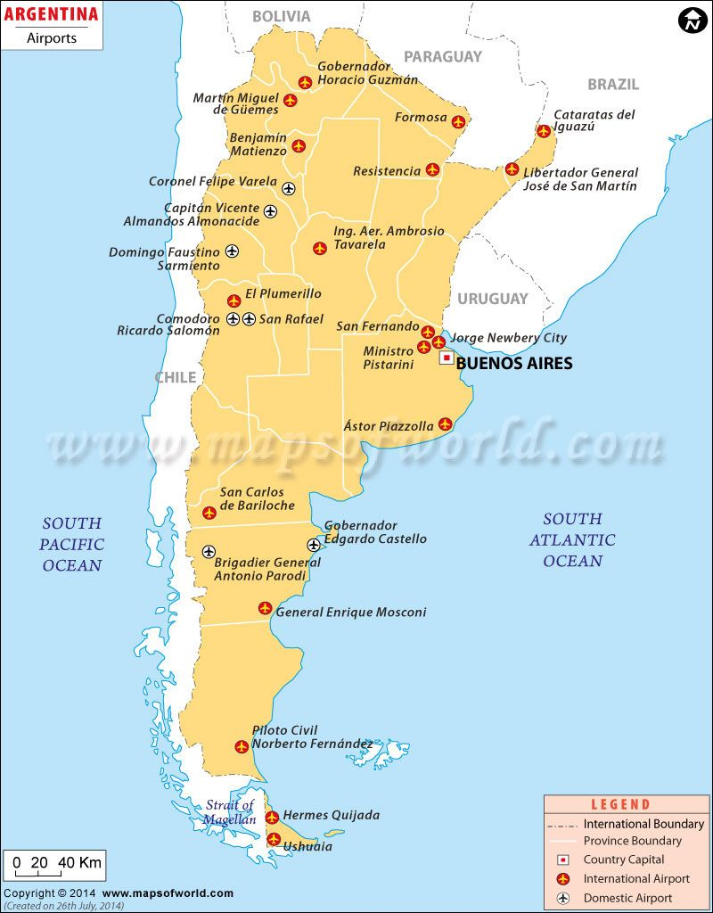 Argentina Airports Study Abroad 2018 Map Argentina