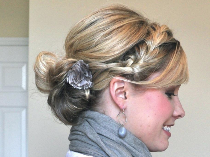 French braid into ponytail - cute work hairstyle