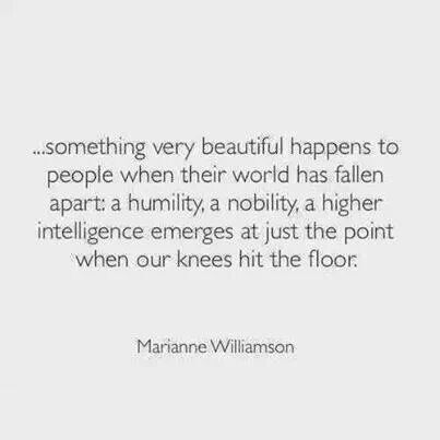 Marianne Williamson On Hitting Rock Bottom Couples Pinterest