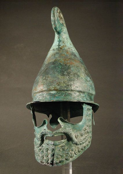 Phrygian helmet, classical to early hellenistic period, circa 350-300 B.C.