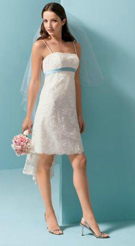 Sweet short lace wedding dress for informal wedding | Sweet & Short ...