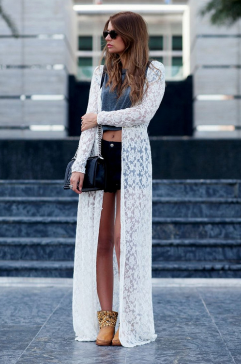 long white lace maxi cardigan | fashion | Pinterest | Maxi ...