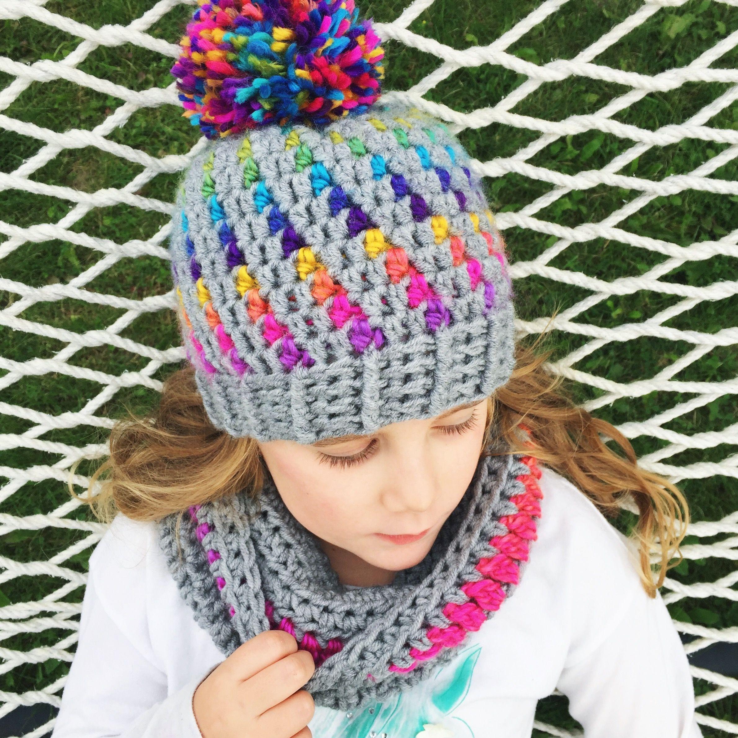 72248858c Crochet Hat Pattern - Northern Lights Pom Pom Hat Crochet Pattern ...